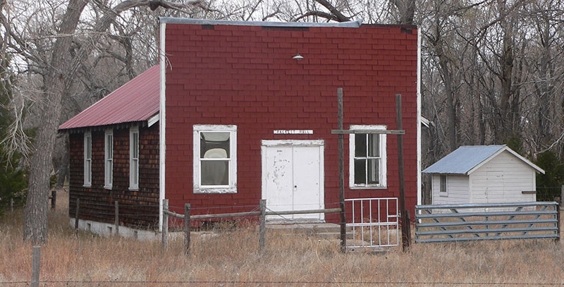 The Rackett Grange Hall in Rackett, Nebraska